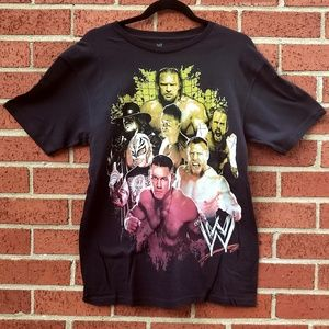 WWE wrestling graphic tee with Cena and more  md